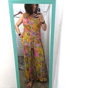 Vintage jumpsuit- Val Mode retro colorful florals